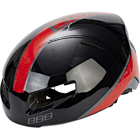 BBB Tithon BHE-08 Fietshelm, glossy black/red